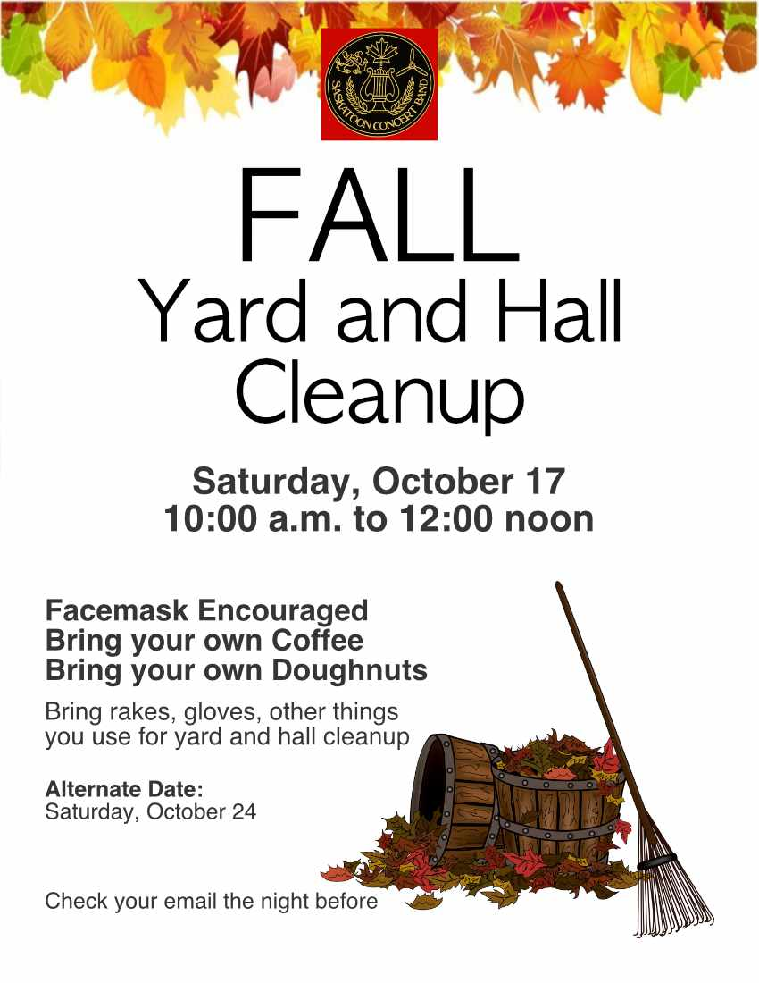 Fall Cleanup Poster